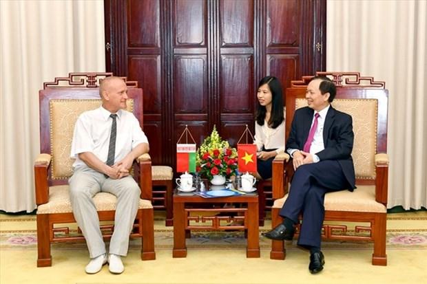 Sindicatos de Vietnam y Belarus intercambian experiencias sobre proteccion de trabajadores hinh anh 1