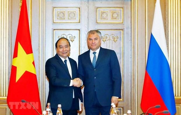 Primer ministro de Vietnam sostiene reuniones con dirigentes parlamentarios de Rusia hinh anh 1