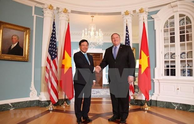 Efectua canciller vietnamita visita oficial a Estados Unidos hinh anh 1