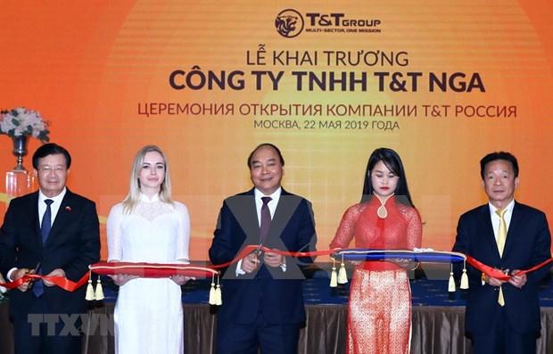 Asiste premier vietnamita a ceremonia de apertura del grupo T&T en Rusia hinh anh 1