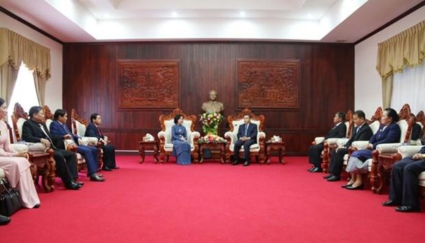 Comparten Vietnam y Laos experiencias en movilizacion de masas hinh anh 1