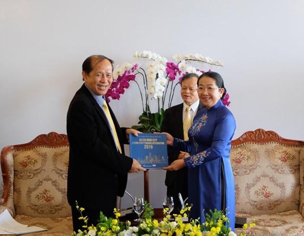 Delegacion camboyana visita Ciudad Ho Chi Minh hinh anh 1
