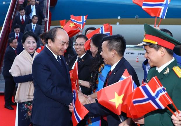 Inicia Premier de Vietnam visita oficial a Noruega hinh anh 1