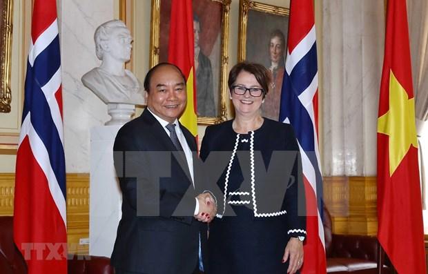 Premier vietnamita se reune con presidenta del Parlamento noruego hinh anh 1