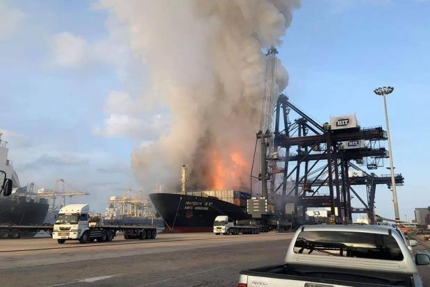 Mas de 20 personas heridas en una explosion de carguero en Tailandia hinh anh 1