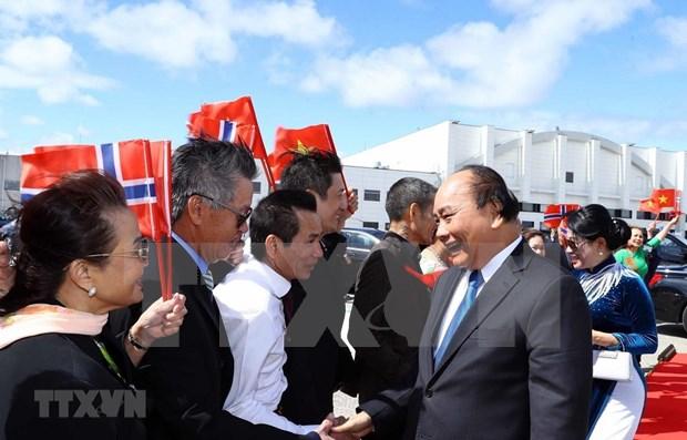 Concluye primer ministro vietnamita fructifera visita a Noruega hinh anh 1