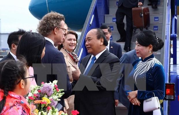 Primer ministro de Vietnam inicia su visita oficial a Suecia hinh anh 1