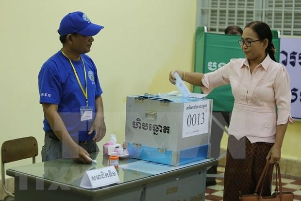 Comienzan en Camboya elecciones de miembros de consejos locales hinh anh 1