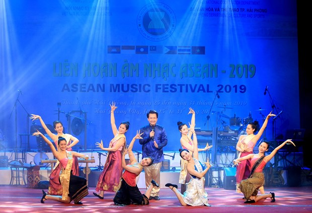 Inauguran festival musical de ASEAN en la ciudad vietnamita de Hai Phong hinh anh 1