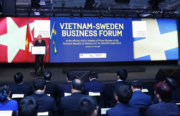 Efectuan en Estocolmo Foro Empresarial Vietnam-Suecia hinh anh 1