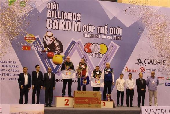 Gana jugador belga Torneo Internacional de Billar Carambola de Ciudad Ho Chi Minh-2019 hinh anh 1
