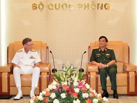 Fortalecen Vietnam y Australia colaboracion militar hinh anh 1