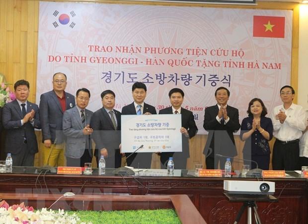 Provincia vietnamita de Ha Nam da bienvenida a empresas surcoreanas hinh anh 1