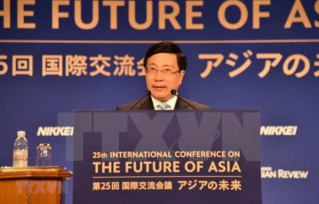 Interviene vicepremier y canciller de Vietnam en Conferencia Internacional sobre Futuro de Asia hinh anh 1