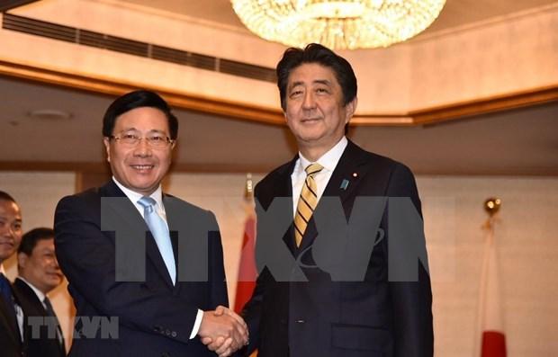 Vicepremier de Vietnam se reune con Shinzo Abe al margen de conferencia en Japon hinh anh 1