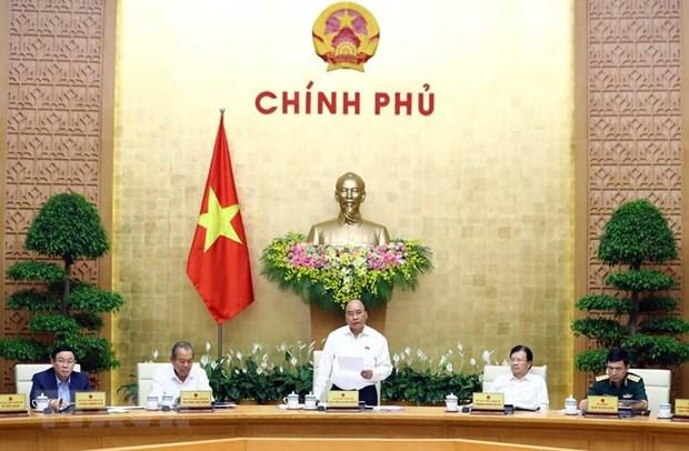 Premier vietnamita insta a mayores esfuerzos para cumplir objetivos de desarrollo socioeconomico hinh anh 1