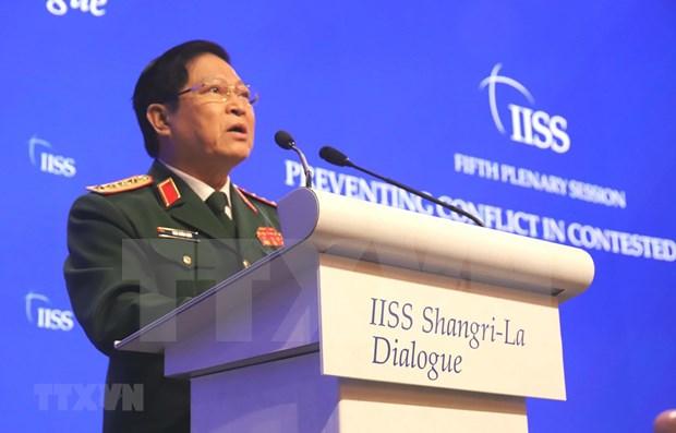 Dialogo de Shangri-La 2019: Vietnam persiste solucion de disputas mediante via pacifica hinh anh 1