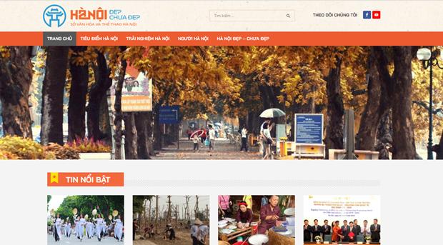 Inauguran en Vietnam sitio web sobre cultura de Hanoi y sus habitantes hinh anh 1