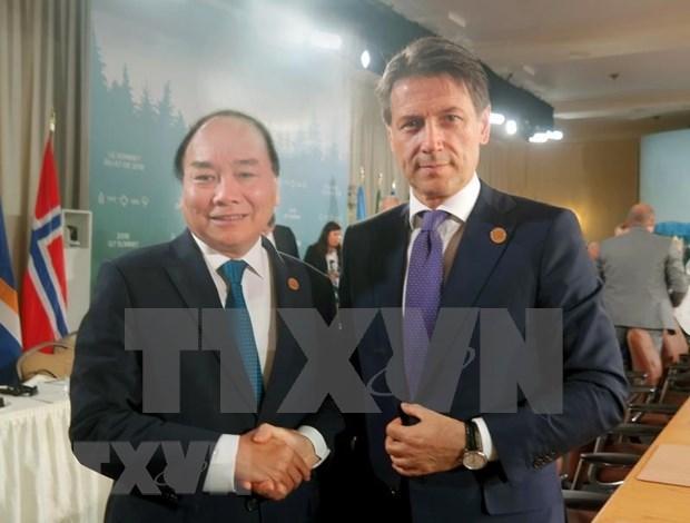 Visita a Vietnam del primer ministro italiano impulsara nexos bilaterales hinh anh 1