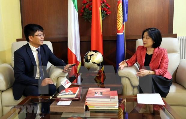 Embajadora de Vietnam en Italia destaca positivo desarrollo de los nexos entre ambos paises hinh anh 1