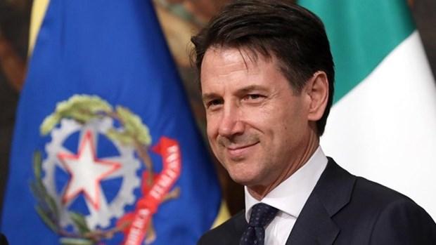 Inicia primer ministro de Italia inicia visita oficial a Vietnam hinh anh 1
