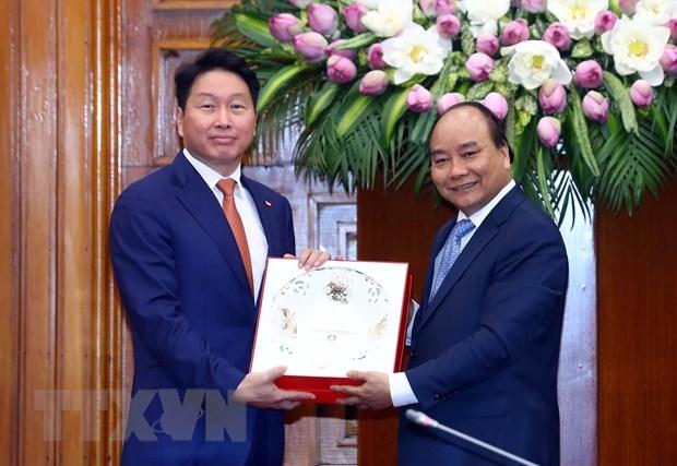 Premier vietnamita recibe al presidente del grupo surcoreano SK hinh anh 1