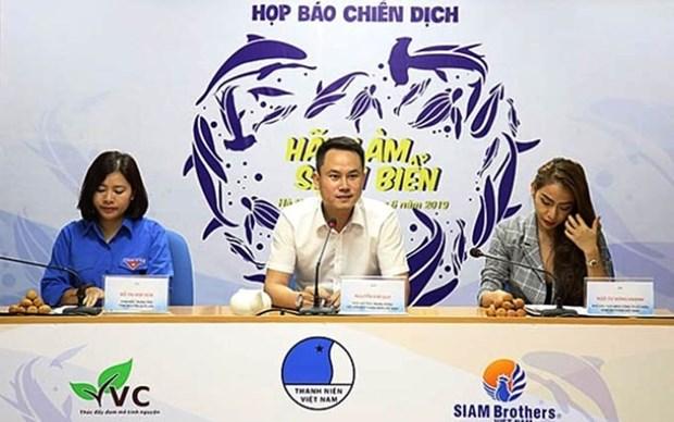 """Lanzaran en Vietnam la campana """"Limpiemos el Mar"""" hinh anh 1"""