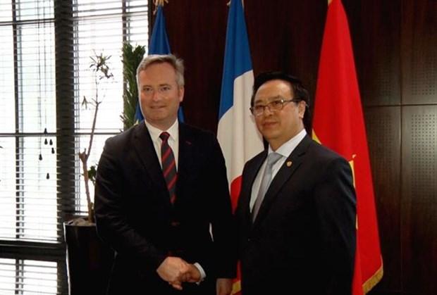 Realiza delegacion del Partido Comunista de Vietnam visita a Francia hinh anh 1