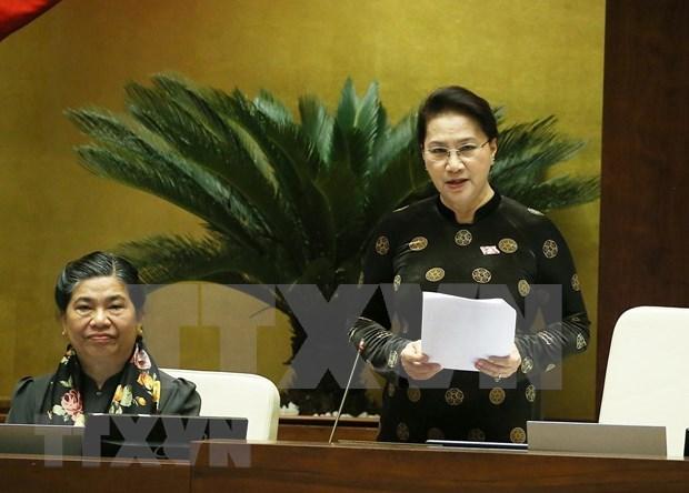 Culmina Asamblea Nacional de Vietnam interpelaciones a altos funcionarios del Gobierno hinh anh 1