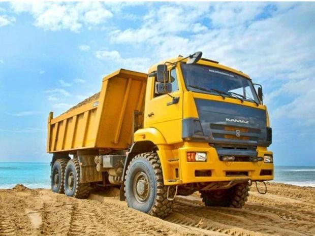 Iniciaran en Vietnam el ensamblaje de camiones rusos Kamaz hinh anh 1