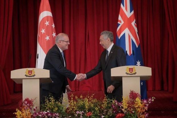 Debaten Singapur y Australia sobre cooperacion comercial y economia digital hinh anh 1