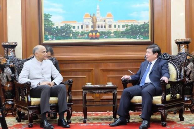 Destacan aumento de la cooperacion entre Ciudad Ho Chi Minh y la India hinh anh 1