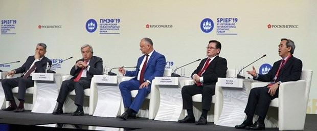 Dirigente vietnamita participa en debates del foro economico internacional en Rusia hinh anh 1