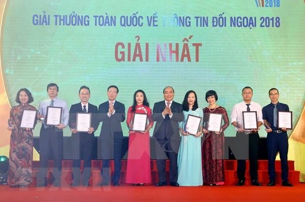 Ceremonia de Presentacion de los Premios Nacionales de Informacion al Exterior 2018 hinh anh 1