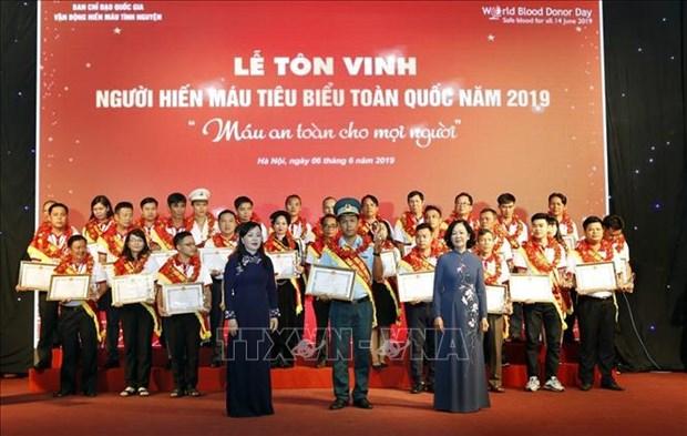 Honran en Vietnam a los 100 donantes de sangre mas destacados del pais hinh anh 1