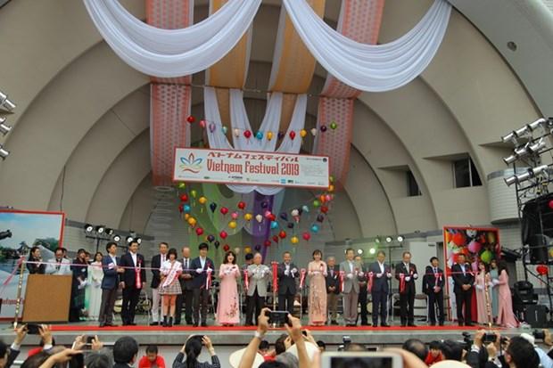 Inauguran en Japon el Festival de Vietnam hinh anh 1