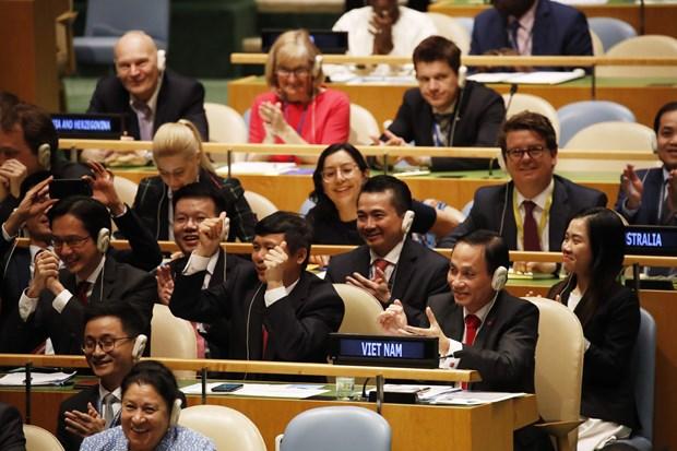 Aplaude prensa internacional eleccion de Vietnam al Consejo de Seguridad hinh anh 1