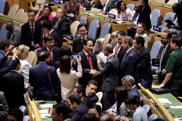 Felicitan a Vietnam por su eleccion al Consejo de Seguridad de ONU hinh anh 1
