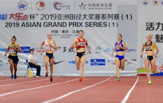 Ganan atletas vietnamitas tres medallas de oro en Gran Premio de Asia hinh anh 1