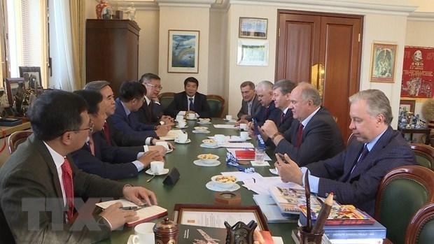 Fortalecen cooperacion entre partidos comunistas de Vietnam y Rusia hinh anh 1