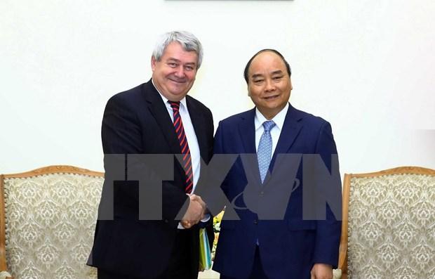 Recibe primer ministro de Vietnam a dirigente legislativo de la Republica Checa hinh anh 1