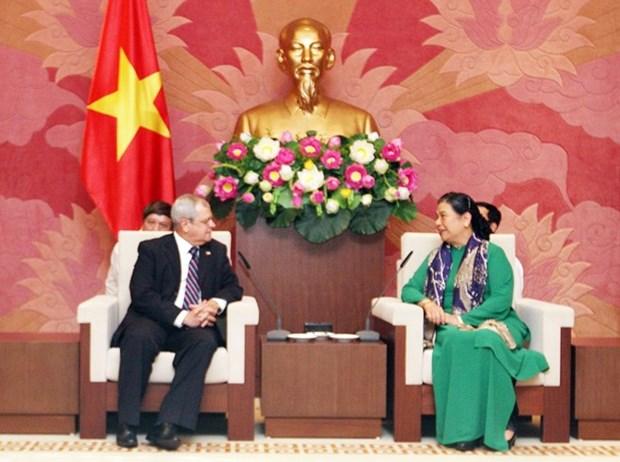 Vicepresidenta de Asamblea Nacional de Vietnam recibe a una delegacion parlamentaria de Cuba hinh anh 1