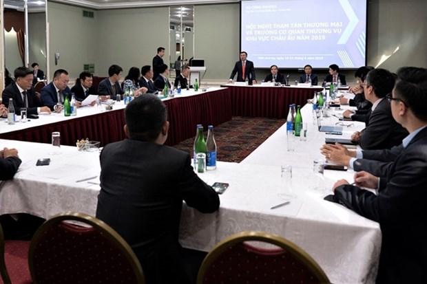 Efectuan Conferencia de Consejeros Comerciales de Vietnam en Europa hinh anh 1