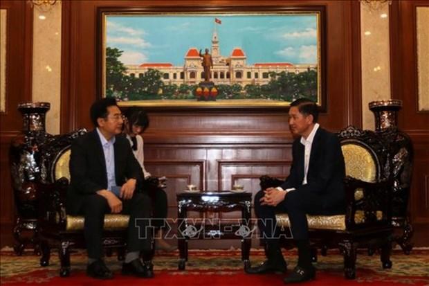 Crean condiciones favorables en Ciudad Ho Chi Minh para inversores surcoreanos hinh anh 1