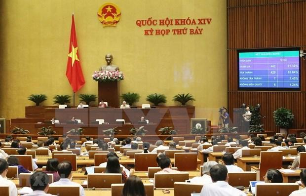Aprueba Parlamento de Vietnam tres leyes hinh anh 1