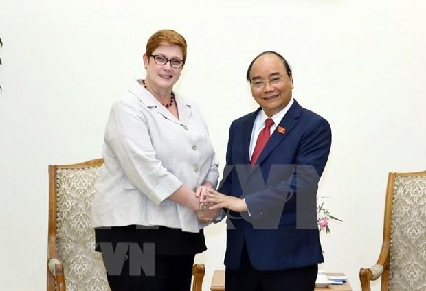 Exhorta premier de Vietnam a fortalecer asociacion estrategica con Australia hinh anh 1