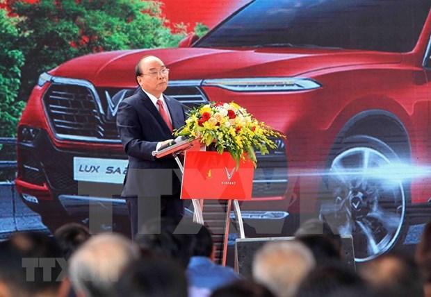 Inauguran en Vietnam fabrica de automoviles VinFast hinh anh 1