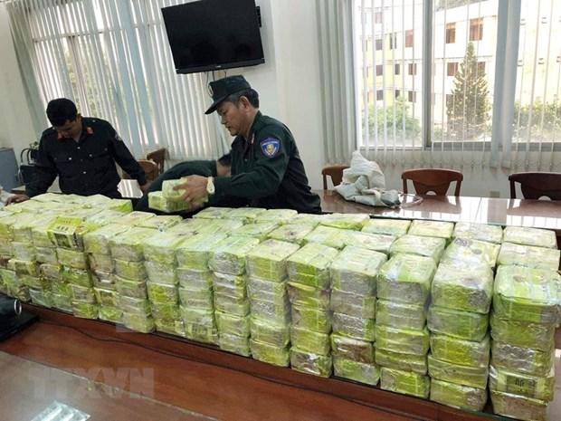Desmantelaron fuerzas policiales de Vietnam y Camboya mil 500 casos de narcotrafico transfronterizo en 2018 hinh anh 1