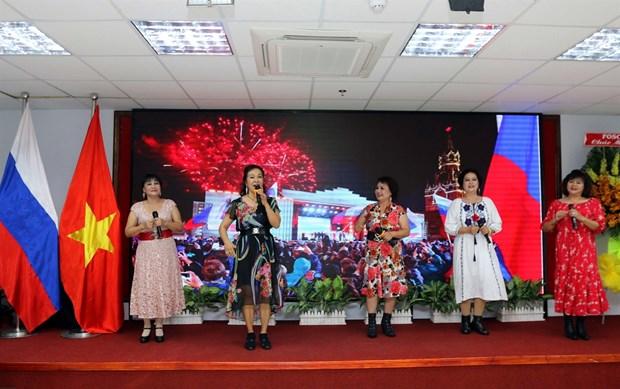 Conmemoran en Ciudad Ho Chi Minh Dia de Rusia hinh anh 1