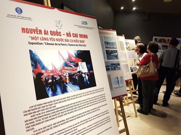 Conmemoran en Paris centenario de movimiento patriotico de vietnamitas en Francia hinh anh 1